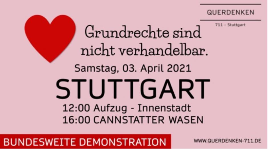 Querdenken Großdemonstration 03 April 2021 diverse Livestream inclusive von RT-Deutsch