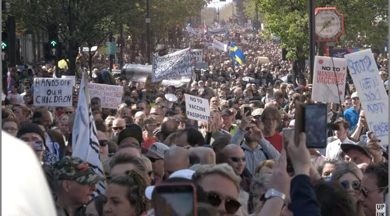 """Widerstand in London und Zürich – hunderttausende auf den Strassen """"Unite for Freedom"""""""