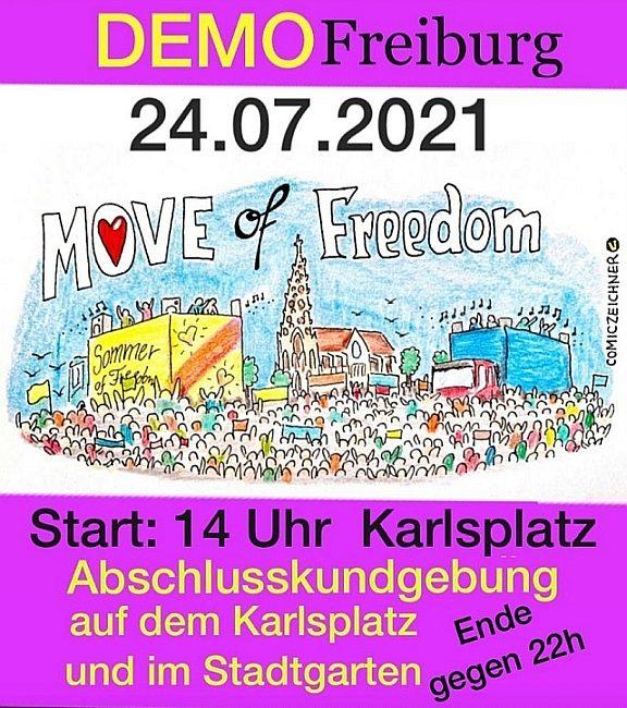 Move of Freedom – Grundrechte Demonstration in Freiburg – Samstag 24.07.2021