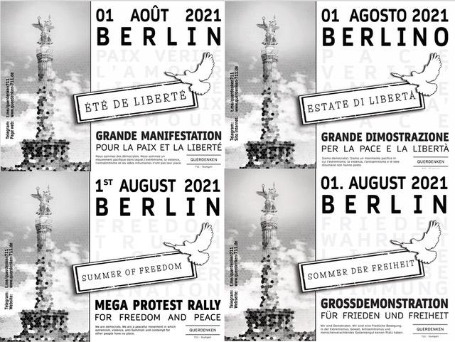 Querdenken Berlin 01.08.2021 – bleibt mobil, seit vorbereitet